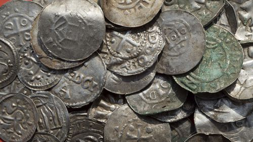A 13 year-old boy is among treasure hunters who sparked the discovery of hundreds of thousand-year old silver coins.