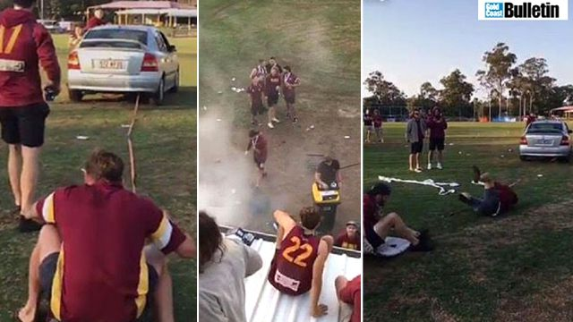 Snapchat images of grand final celebrations. Source: Gold Coast Bulletin