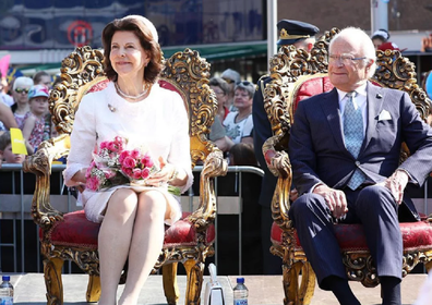 Queen Silvia and King Carl XVI Gustaf.