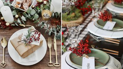 From traditional to simple and chic here's your Christmas table inspiration and ideas