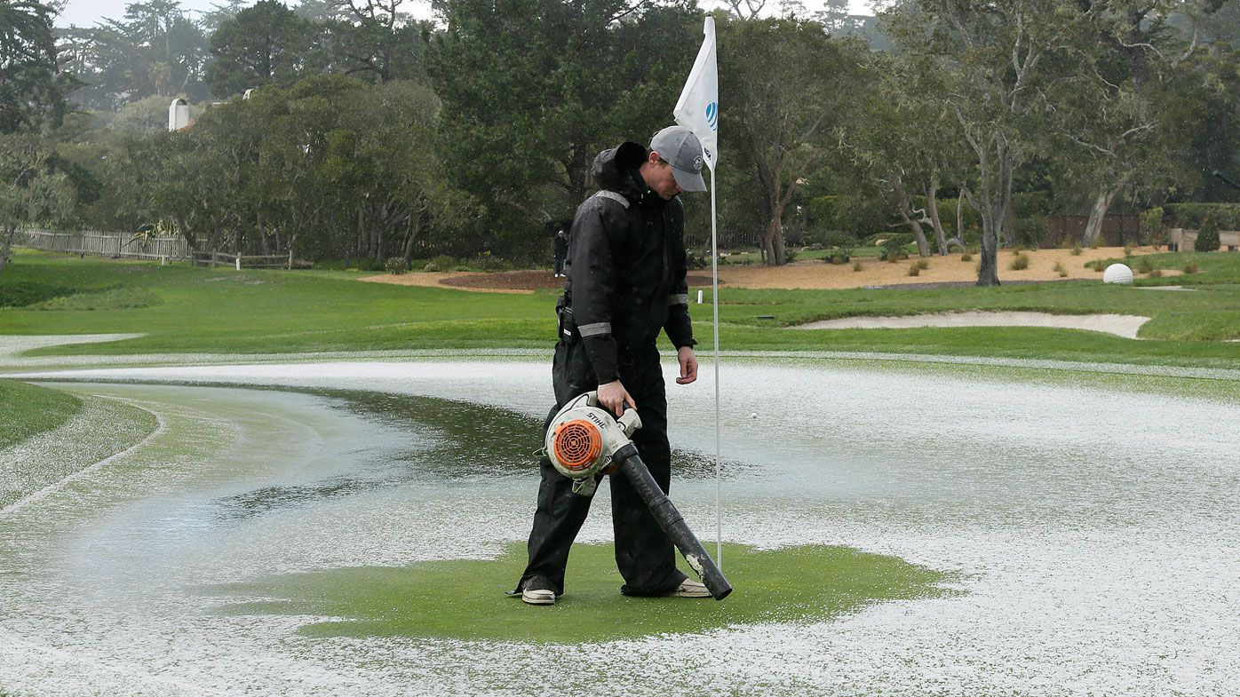 Pebble Beach Pro Am hit by hail storm during final round