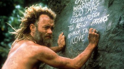 <p><em>Cast Away</em> (2000) – Hanks starred as a FedEx employee marooned on a remote island with only a volleyball for company. </p> <p>(ImageMovers/Playtone/20th Century Fox/DreamWorks Pictures)</p>