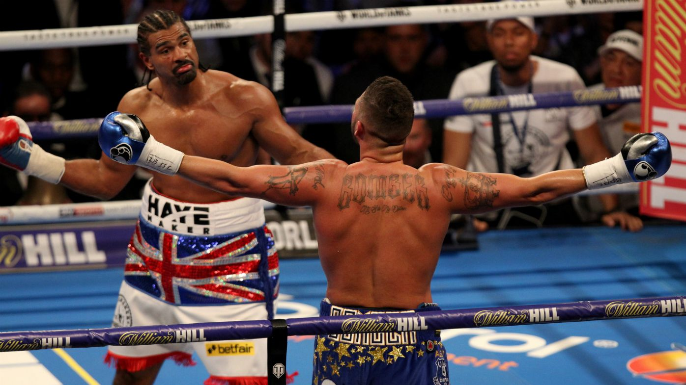 Tony Bellew stops David Haye in boxing grudge bout, Gennady Golovkin retains middleweight title