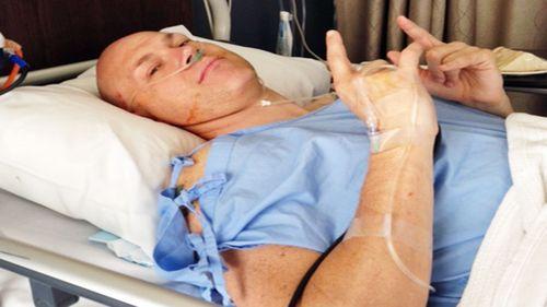 Mr Macduffie underwent spinal surgery after a blockage was found. (Photo: Mark Macduffie)