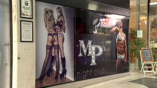 MP's nightclub apologise to anyone offended by images outside their venue. Picture: Nine