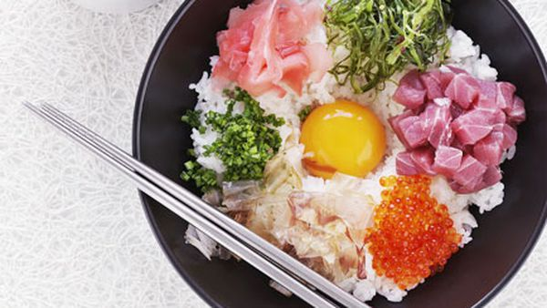 Japanese rice and egg