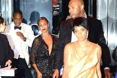 """Solange Knowles had some serious BEEF with brother-in-law Jay-Z and we still don't know why. <br/><br/>Beyonce's sister randomly attacked the rap star in an elevator after the MET Gala in May, allegedly because he was cheating on her sis. Makes sense.<br/><br/>But we're not sure what to make of this throwaway line from Bey's track 'Yonce' months <i>before</i> the incident: """"Of course sometimes s--- go down when it's a billion dollars on the elevator."""" <br/><br/>A premonition? Perhaps. But we're still clueless."""