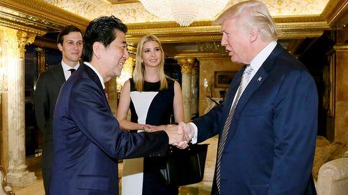 Trump's daughter sits in on landmark Japan PM talks