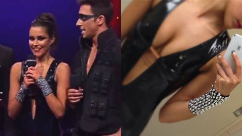 Rhiannon Fish sizzles in catsuit on <i>Dancing With The Stars</i> ... boyfriend Reece Mastin wants to 'take it home!'