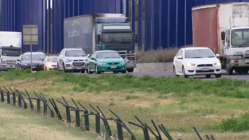 Traffic is now flowing after the crash called major delays for motorists through the morning. (9NEWS)