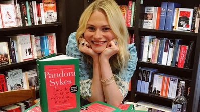 Pandora Sykes at book signing at Waterstones Gower St