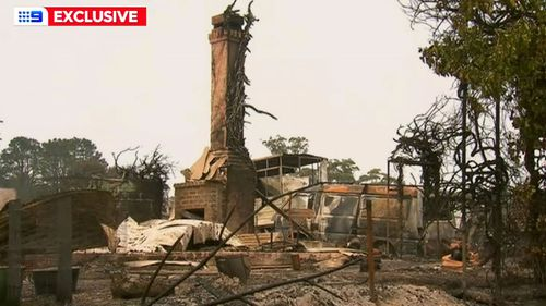 Their house in Quaama was destroyed when a fire tore through the Bega Valley Shire in south-east New South Wales on New Year's Eve.