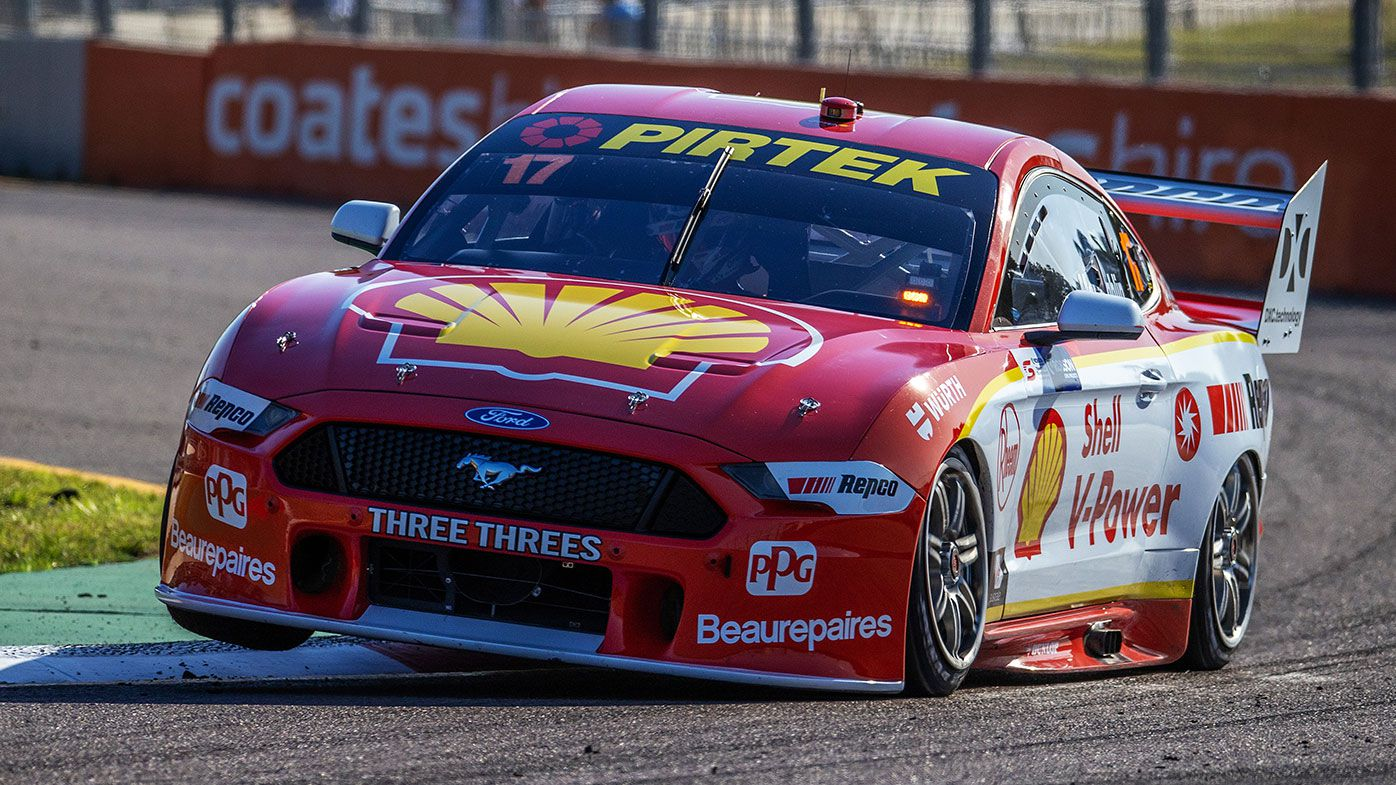 Scott McLaughlin drives the #17 Shell V-Power Racing Team Ford Mustang during race 22 at the Townsville SuperSprint round of the 2020 Supercars Championship
