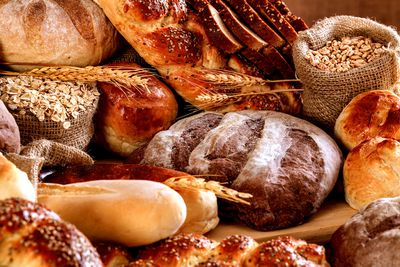 White bread (and some brown breads)