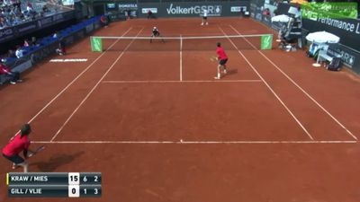 Belgian tennis player pulls off incredibly rare shot on ATP Challenger Tour match in Germany