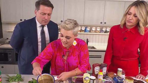 Jane de Graaff cooks pub classics with Karl Stefanovic and Leila McKinnon