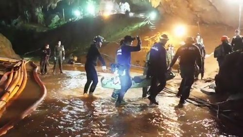 The flooded conditions made the rescue even more difficult.