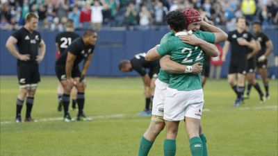 Ireland ended a 111-year losing streak to finally defeat the All Blacks in Chicago. (AAP)