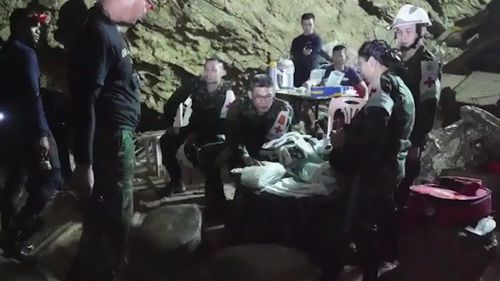 The rescue mission captured the world's attention since June 23 when the boys entered the cave with their soccer coach. Picture: Supplied.