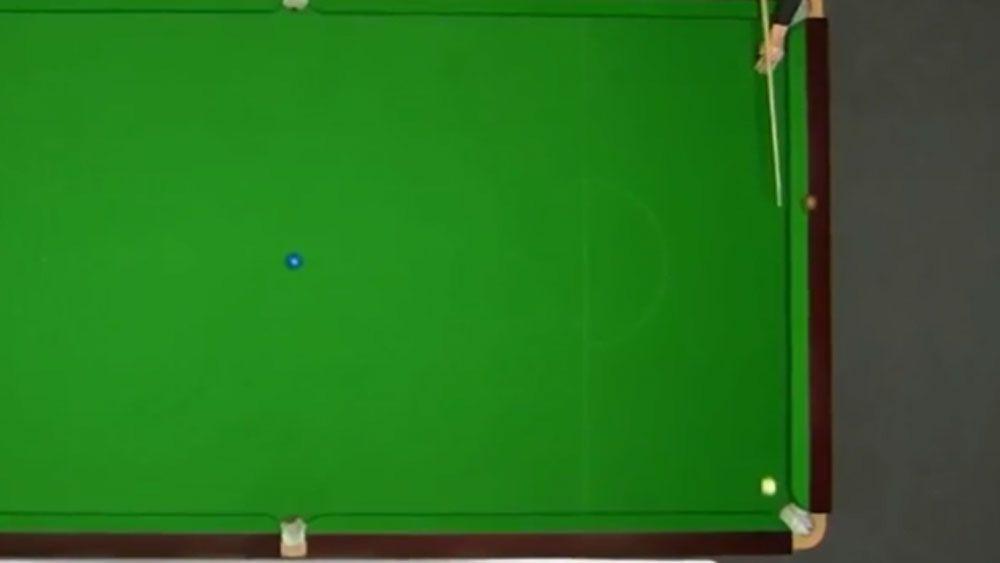 Snooker champ's amazing cushion ride trick shot