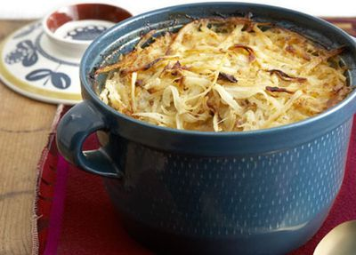 Potato and bacon gratin