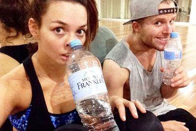 @therickilee: S--- starts getting creepy when we rehearse his late at night! Hahaha @jarrydpbyrne #CreepingWithTheStars
