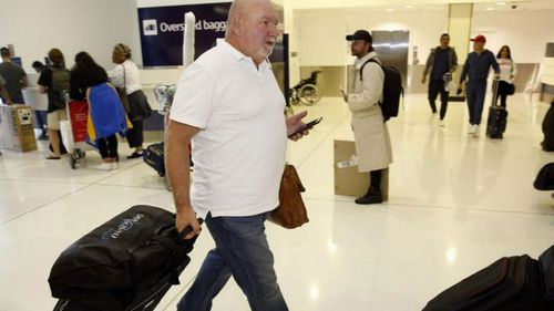 NSW homicide investigator Wayne Walpole on his way to Canada to assist with the investigation.