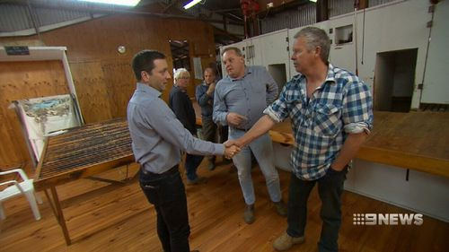 Matthew Guy is touring regional Victoria to meet drought-stricken farmers.