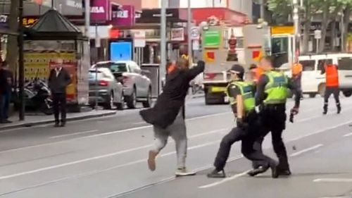 Ten days before the arrests, Hassan Shire Ali fatally stabbed a man and injured two others on Melbourne's Bourke Street.