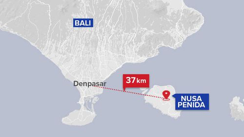 Manta Point is just a short ferry ride from Bali