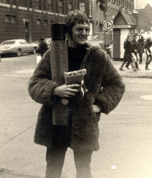 Pete Thompsett pictured in Montreal, Canada. Thompsett, who is now an architect in Noosa, Queensland, went to Woodstock in 1969.