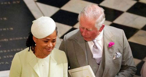 Markle's mother Doria Ragland is the only relative of the bride to attend the wedding. Picture: EPA