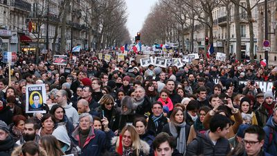 Christians, Muslims and Jews alike took part in the rallies, held as around 2.5 million people took to the streets in unity marches in France. (Getty Images)