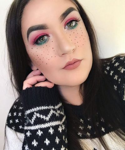Festival Freckles featuring the colours of The Grinch