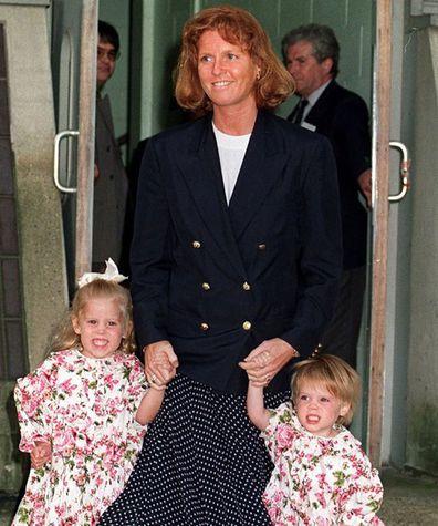 Princess Beatrice, Sarah Ferguson and Princess Eugenie flashback