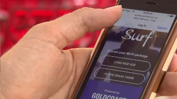 Fast, free WiFi has gone live in three hotspots on the Gold Coast. (Image: 9NEWS)