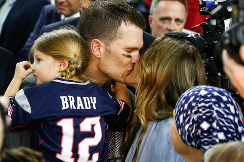 Tom Brady and his supermodel wife Gisele Bundchen. (AAP)