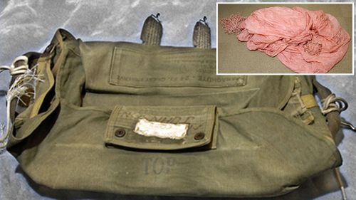 The parachute and parachute bag used by the hijacker DB Cooper to escape.