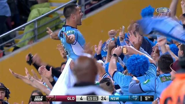 Jarryd Hayne scores for NSW