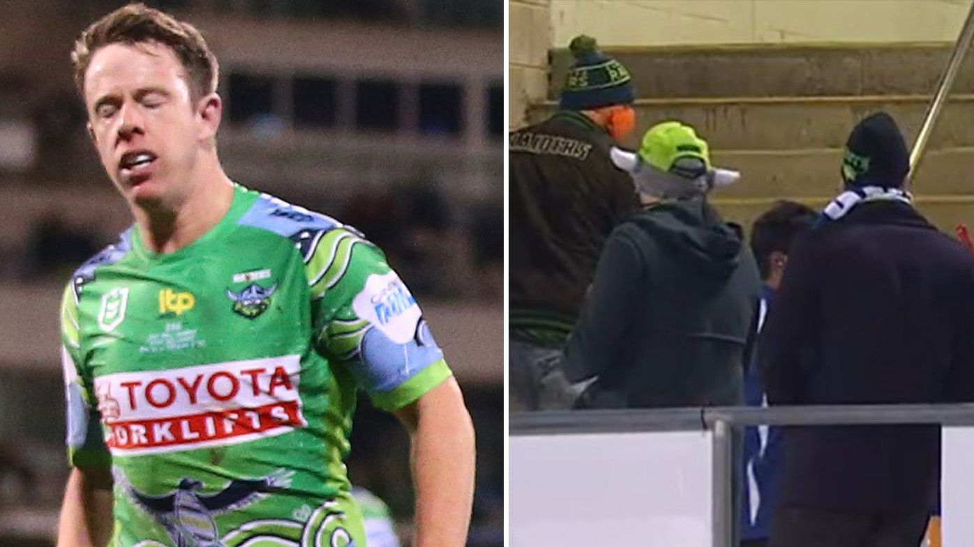 Raiders horror-show leaves fans streaming out of Canberra Stadium with more than 20 minutes left