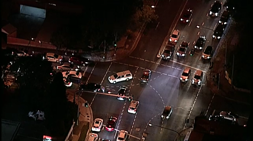 A man is in a critical condition after being hit by a car in Sydney's west this evening.