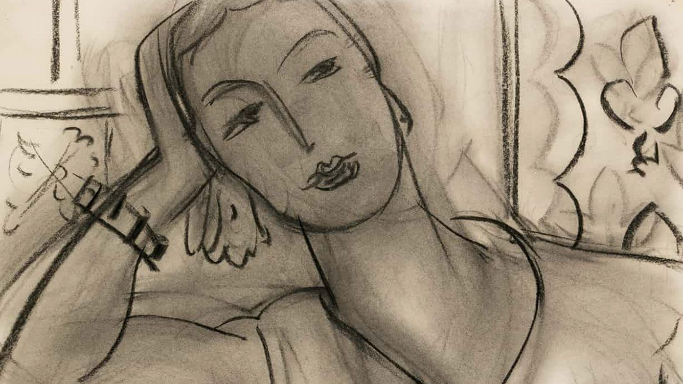 A cropped image of Henri Matisse's Portrait of Mary Hutchinson (Sotheby's)