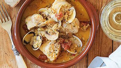 "<a href=""http://kitchen.nine.com.au/2016/05/19/13/19/fish-clam-stew-with-picada"" target=""_top"" draggable=""false"">Fish &amp; clam stew with picada</a>"