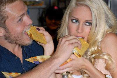 """It's debatable whether she was actually a """"nice girl"""" to begin with, but there's no denying Heidi Montag is a silly girl. Her incredibly annoying (and kind of insane) husband Spencer Pratt has been accused of using his wife as a pawn in his quest for Z-list fame. He even encouraged her to butcher her face and body with more than ten cosmetic procedures last year."""