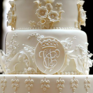 The wedding cake made for Prince William and Kate Middleton's 2011 royal wedding