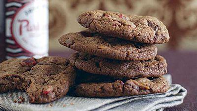Fudgy choc-cherry biscuits