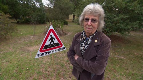 Melbourne pensioner Rita Kenney has been waiting for a footpath for 46 years.