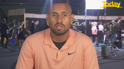 Nick Kyrgios said he had misgivings about the upcoming Melbourne Grand Slam.