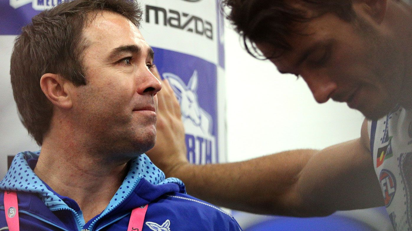 Brad Scott 'disappointed' in leaked news of Kangaroos departure as exit confirmed