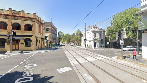 The alleged intimidation occurred on Devonshire Street in Surry Hills.